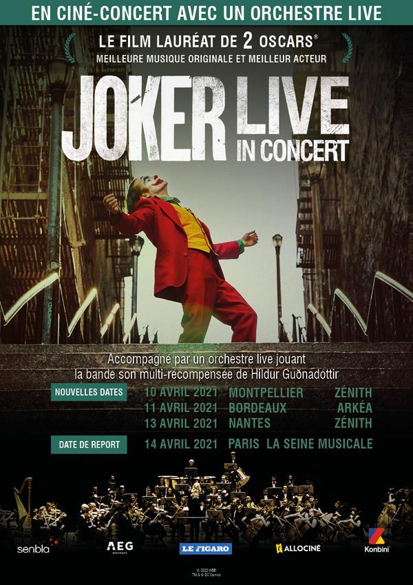 Joker En ciné concert :  Reporté au 14 avril 2021 à la Seine Musicale